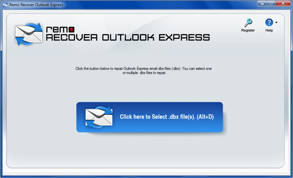 Mend Outlook Express Inbox - Main Window