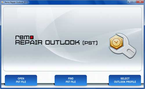Outlook 2010 Inbox Fixer - Main Screen